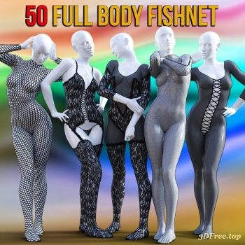 50 Full Body Fishnet for G8F ( 3dfree.top )